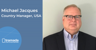 "Michael Jacques headshot with new title ""Country Manager, USA"""